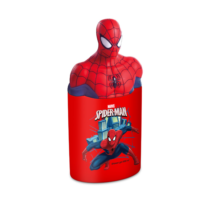 SEMI 3D SPIDERMAN SHOWER GEL 300 ML